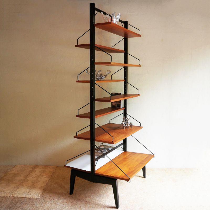 Poul Cadovius room divider - zeldzaam - H200xD78xB84cm - naar wens in te delen, ook als bureau - sold