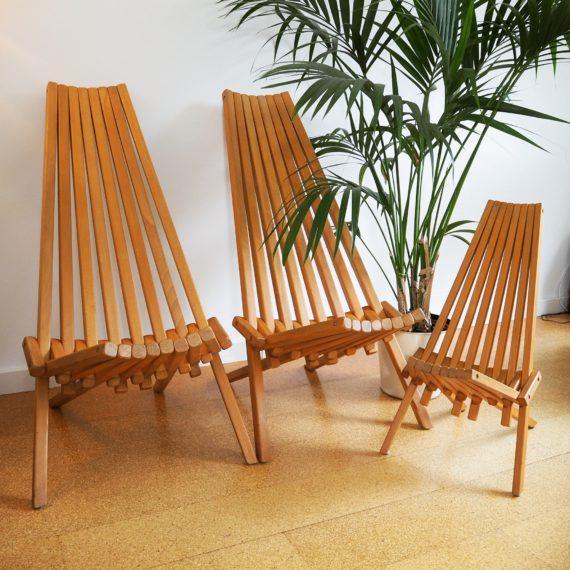 Danish design folding chairs - vouw/klap stoelen - zeer goede staat, zware kwaliteit, eiken/beuken - sold