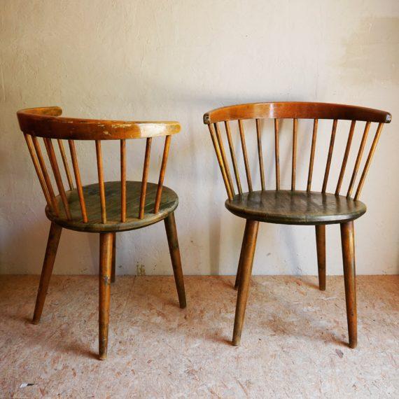 2 Yngve Ekström Nesto chairs - originele kleur - 57x45x73 cm, zithoogte 45cm - sold