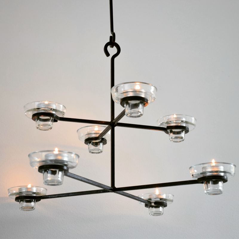 Chandelier / Candleholder Erik Höglund - Swedish design - H120cm - sold