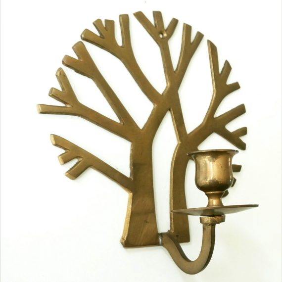 Koperen Wandkandelaar / Brass wall Candlestick -sold