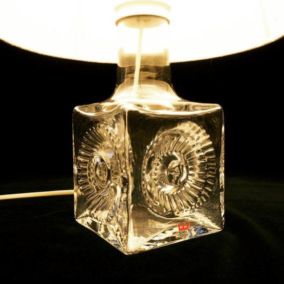 60's Kosta Boda crystal Lamp - signed Ove Sandeberg - €195