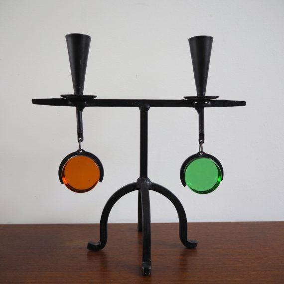Candleholder Erik Höglund for Bo Svensk '60 - 23x23cm - sold