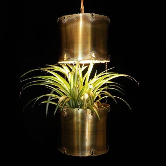 Zeldzame Hanglamp + Bloembak - Svend Aage Holm Sorensen - Deens design - Koper incl. de koperen plafondkap - €295