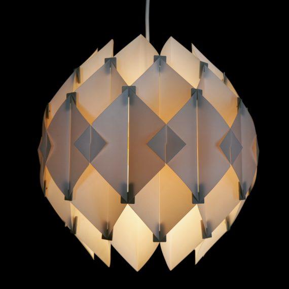 '60 Butterfly Hanglamp - Lars Schiøler voor Hoyrup Denmark - wit - Ø 30cm - sold