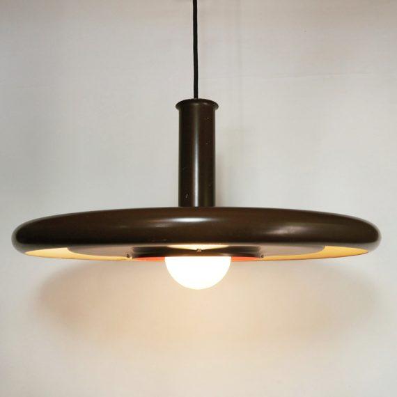 Hanglamp Optima van Hans Due voor Fog and Mørup - bruin - Goede, ietwat 'industriële' staat - sold