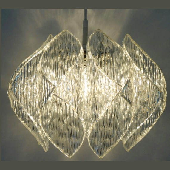 Sixties Hanglamp golvend plexiglas - sold