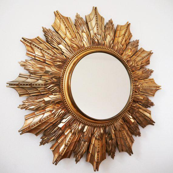 Zonnespiegel - Sunburst Mirror - goud Ø40cm - sold