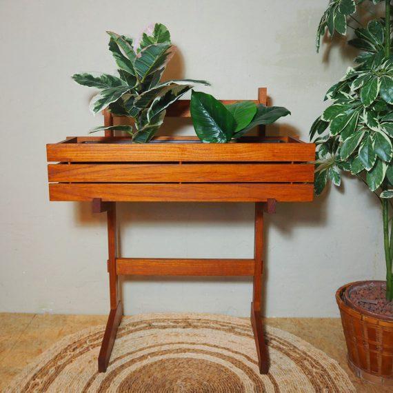 Vintage Plant stand Plantenbak op onderstel - zeer goede staat - teak - €165