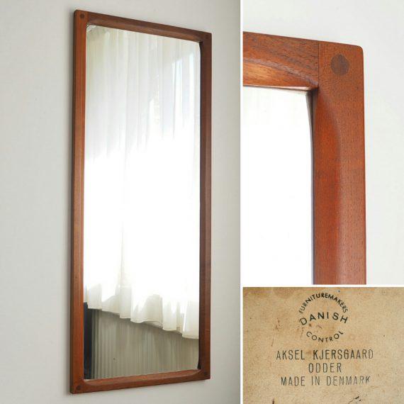 60's teak Spiegel Passpiegel Deens design – Aksel Kjersgaard – 44x105 cm – Teak Danish Mirror – sold
