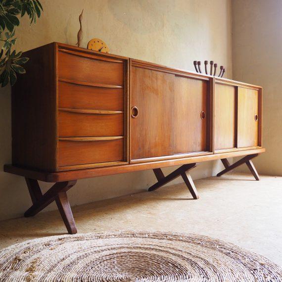 Vintage design Dressoir / Sideboard van Rudolf Glatzel voor FRISTHO - B208xD43xH80cm - Goede vintage staat - Prijs op aanvraag