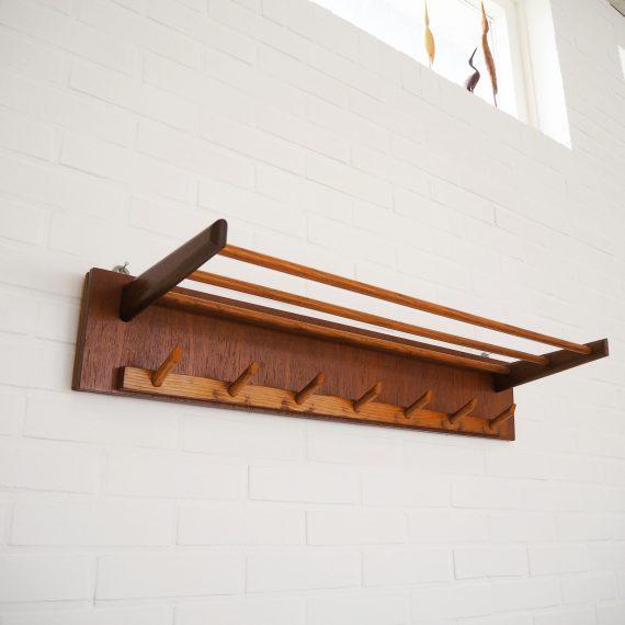 Teak (Deens) design Kapstok - Coat rack - B91,5xD25xH16cm - €95