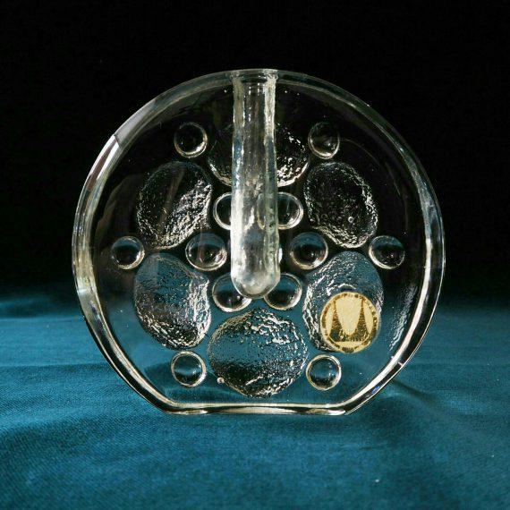 Walther glas Solifleur Vaasje / Kandelaar H15cm - €20
