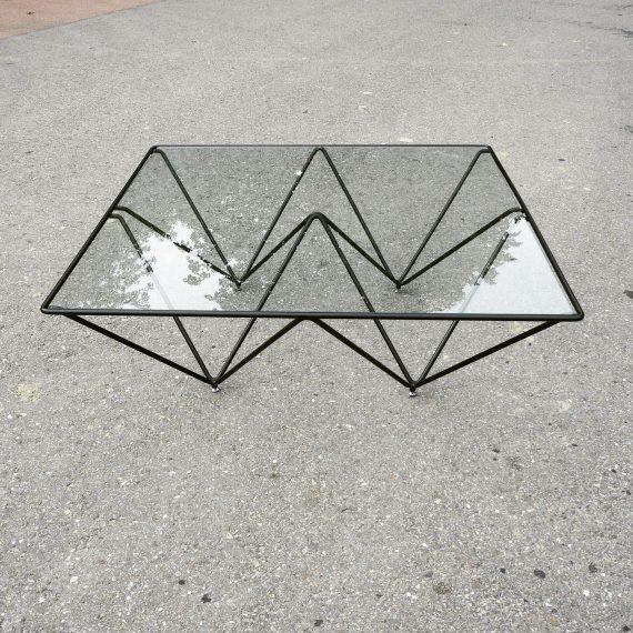 Paolo Piva style 'Alanda' Salontafel - gehard glas, een klein chipje - 100x100x36cm - sold