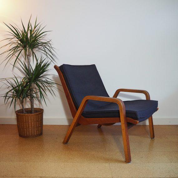 Fauteuil FB 05 Pastoe - Cees Braakman -teak, bekleed met sterke meubelstof in antraciet - €375