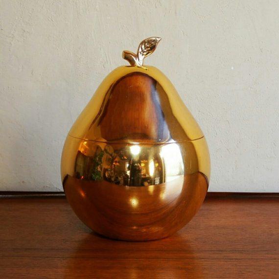 'Golden' Ice Bucket - Pear - H30cm Ø20cm - prima staat - €53