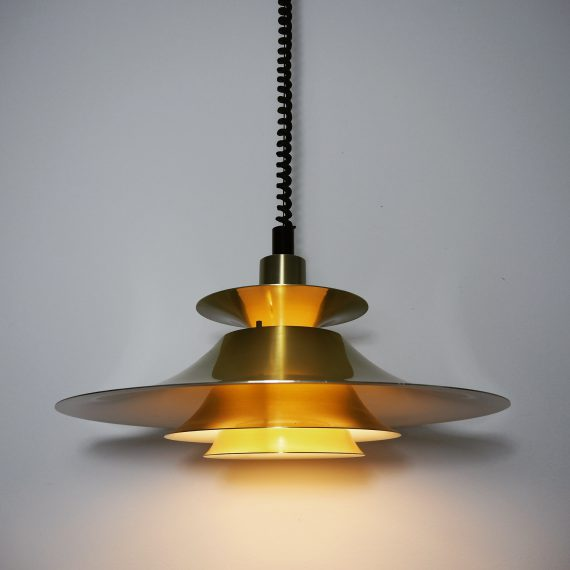 Messing Hanglamp met trekpendel - Frandsen - Danish design - Ø49cm - €165