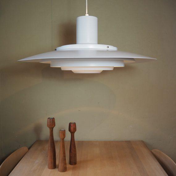 Grote versie Lamp Jørgen Kastholm en Preben Fabricius voor Nordisk Solar - Ø70cm H30, incl snoer 270cm - mooie vintage staat, 1 zeer licht deukje nagenoeg onzichtbaar - Danish design - sold