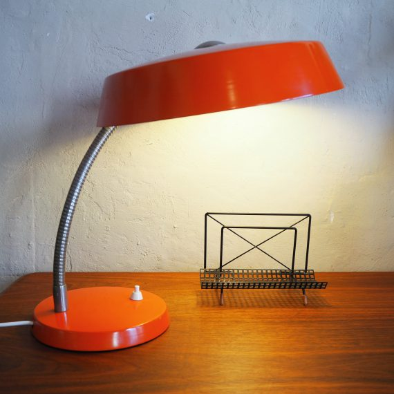 Vintage 60's design Philips Tafellamp Bureaulamp Desk lamp Oranje - €95