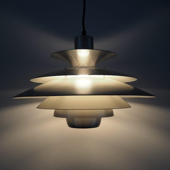 Danish design JEKA Schalenlamp type LOTUS - ø40cm totale lengte 95cm - zeer goede staat - sold