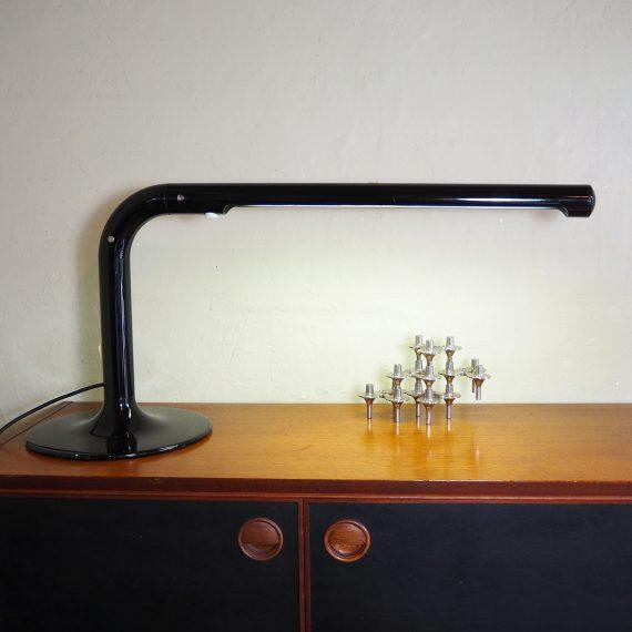 60's Atelje Lyktan Tube lamp - Anders Pehrson Design - Swedish Vintage - H40xB90cm - heeft aan de achterkant (op de foto gezien) een nette lijmreparatie, verder in goede staat met nieuwe lamp - €95