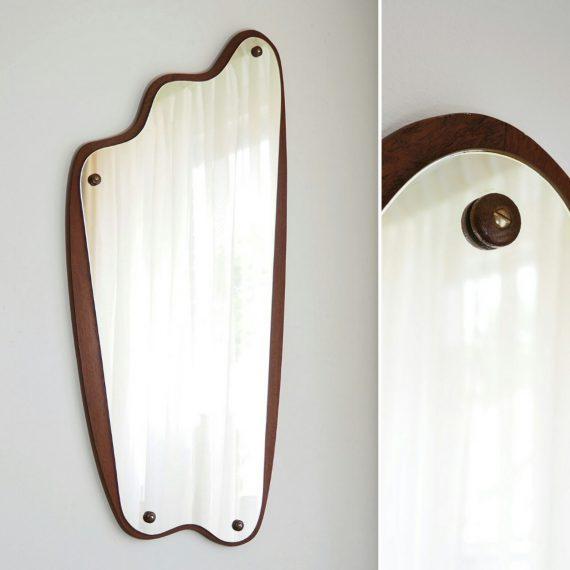 Danish design Spiegel - 60's teak Mirror - 88x40cm - €275