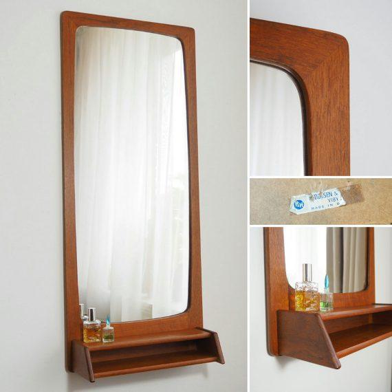 60's teak Spiegel - Danish design Pedersen & Hansen Mirror - 83x36cm - sold