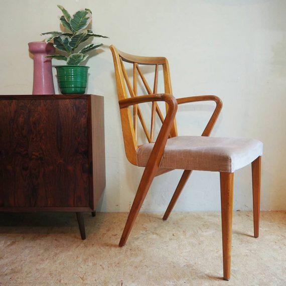 50's Poly Z Chair - A.A. Patijn - Dutch design - heeft een nieuwe bekleding/vulling nodig - €95