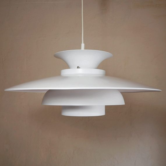 Witte Schalenlamp Ø47cm - Vintage Danish design - €165