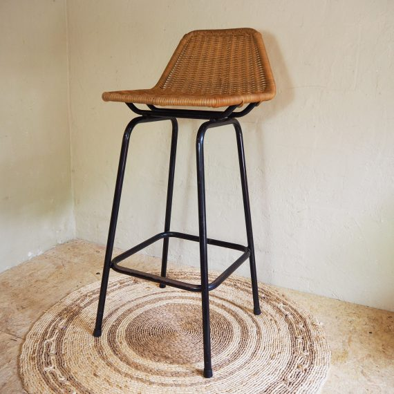 Dirk van Sliedregt Barkruk - Vintage Bar stool Rohé Noordwolde - H90 H70 B47 D43cm - sold