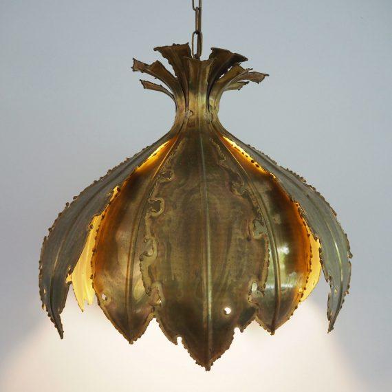 Danish design Pendant Lamp 'Onion' by Svend Aage Holm Sørensen - incl. koperen originele plafondkap met sticker - Ø45cm H155cm - sold