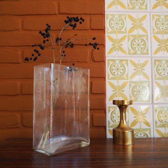 Vintage design Vaas - Helena Tynell voor Riihimaen Lasi, Finland - 20x13x8cm - €65