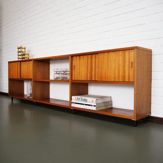 Vintage design Laag Dressoir / televiesiekast - B200xD24xH56cm - zeer goede staat - Teak Sideboard - sold