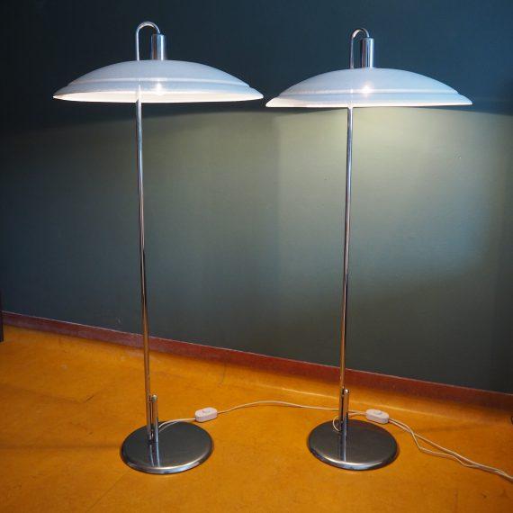 *nog 1 beschikbaar* 70's Zweeds design ZERO Vloerlamp / Swedish Floor lamp by Börge Lindau & Bo Lindekrantz - H130cm Ø58cm - €350