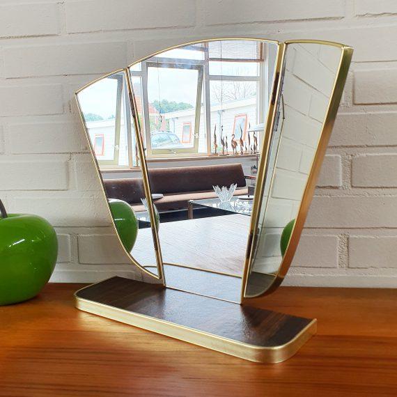 Vintage Kapspiegel - Klapspiegel B45xH36cm - heeft haken dus kan hangen - sold