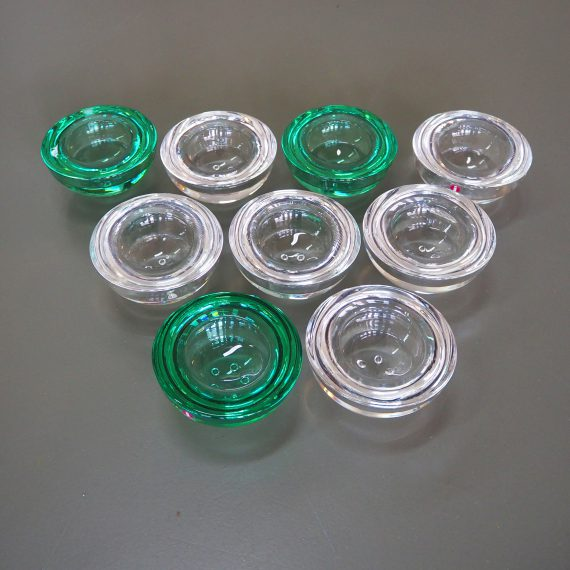 Waxinehouders Ballo van Iittala Fins design - Nog beschikbaar: 5x transparant en 2x smaragdgroen - p/st €12,50