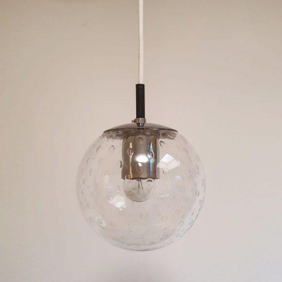 Raak Amsterdam B1224 Druppel Lamp - ø20 cm - incl. nieuw stoffen snoer en originele plafondkap in wit kunststof € 195