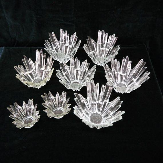 6 stuks 'Noorderlicht' Schalen - Tauno Wirkkala voor Humppila - Ø20cm en H15cm - €25 per stuk en 2 stuks van Ø15cm en H10cm €17,50 per stuk